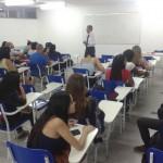 Bate papo com os alunos
