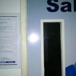 Cartaz em A3 de devolutiva aos alunos, na entrada da sala de aula.