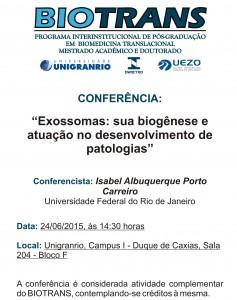 Conferência Biotrans - Programa de Pós-Graduação em Biomedicina Translacional
