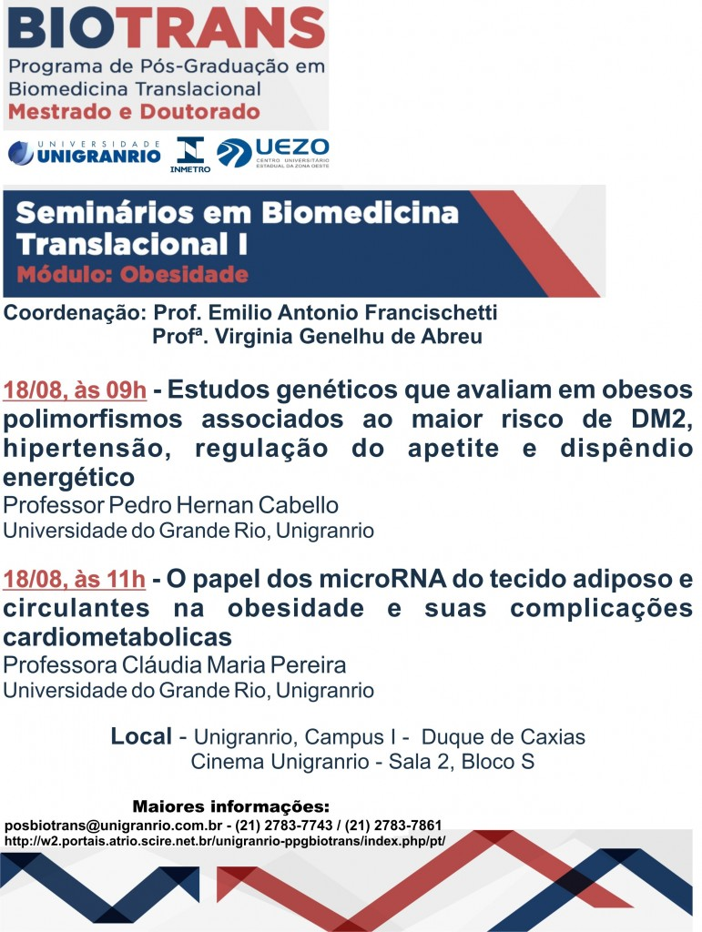 Conferência do Biotrans - 18 de agosto