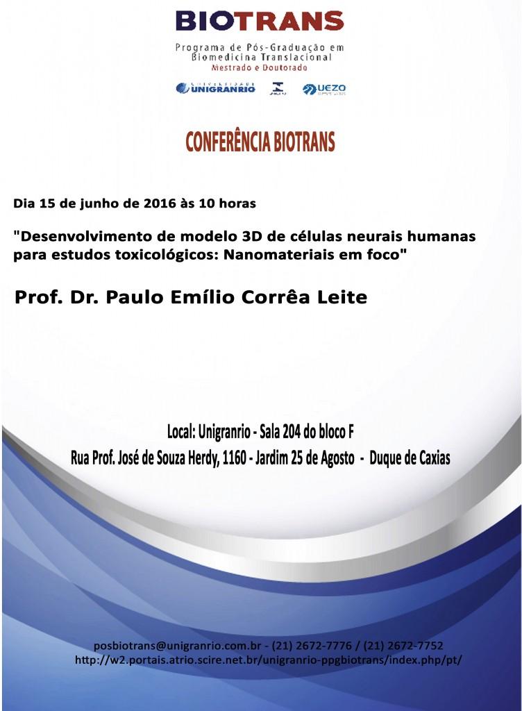 Conferência BIotrans - 15 de Junho
