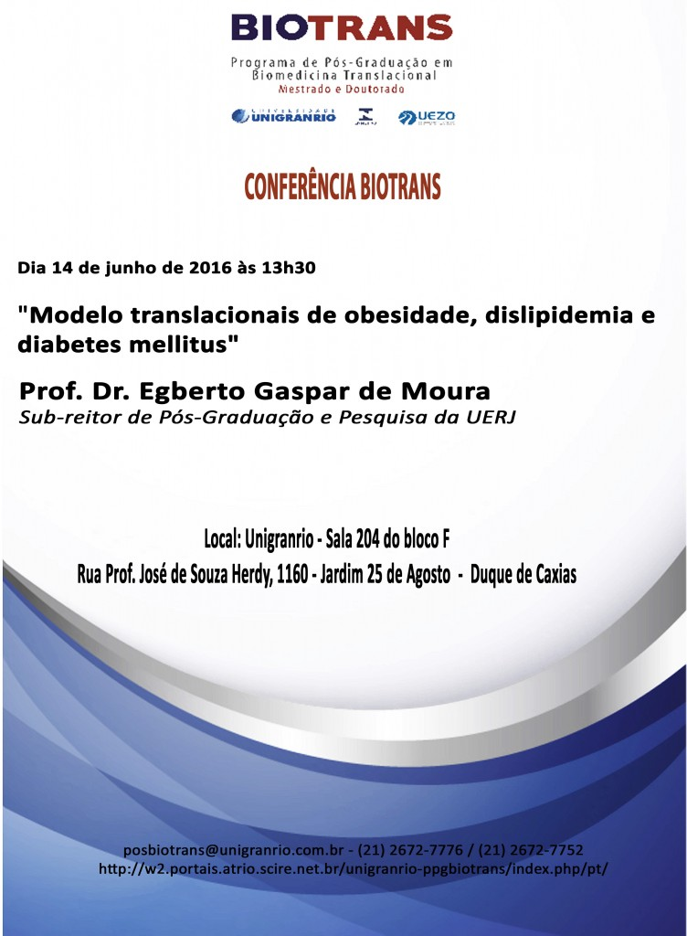 Conferência - Biotrans - 14 de junho
