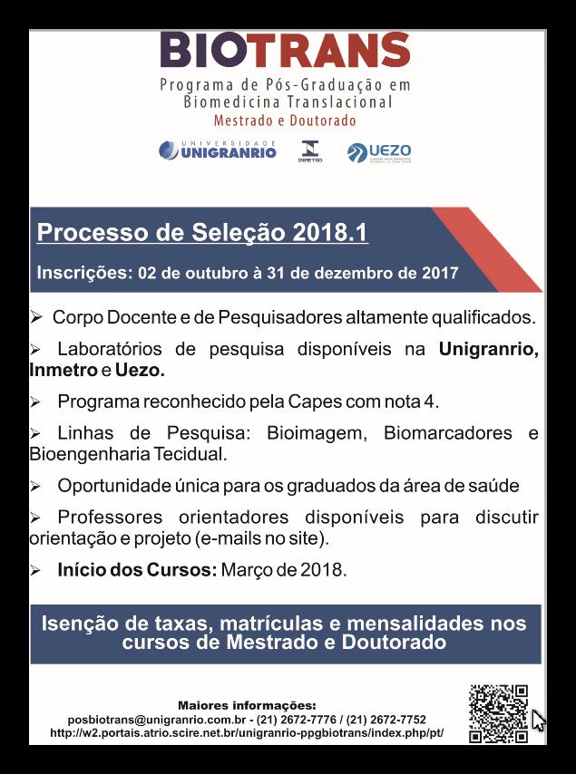 Processo Seletivo - Biotrans 2018